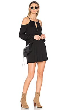 Cold Shoulder Mini Dress in Black