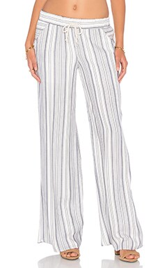 Stripe Wide Leg Pant in Harbor