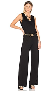 Lanson Front Strap Jumpsuit in Black