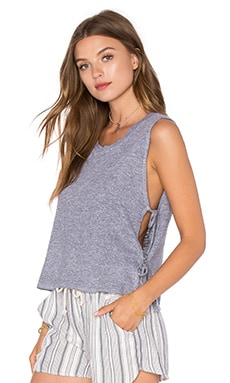 Side Tie Crop Tank in Heather