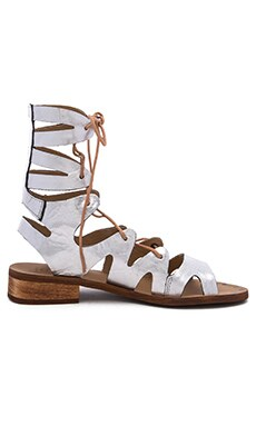 Rapper Sandal Leather in Silver