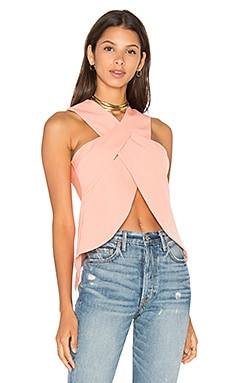 Wrap Over Top in Coral