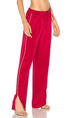x REVOLVE The Silk Pant in Rouge