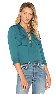 The Safari Blouse in Emerald