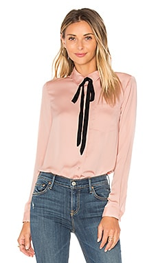 x REVOLVE The Classic Blouse in Nude