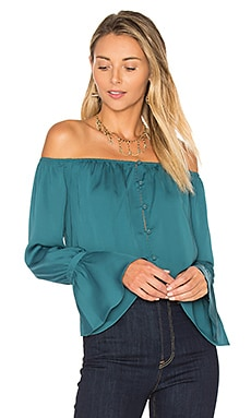The Off Shoulder Blouse in Emerald
