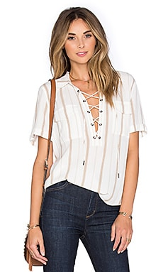 The Safari Blouse in Stripe