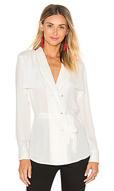The Trench Blouse in Ivory