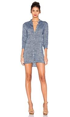 Ravie Shirt Dress in Midnight Blue