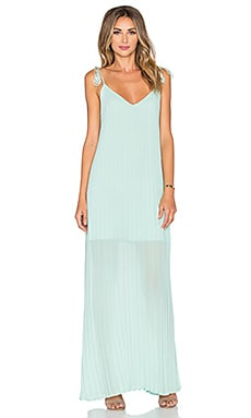 Muse Pleat Dress in Mint