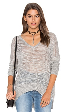 Ruby V Neck Sweater in Shadow