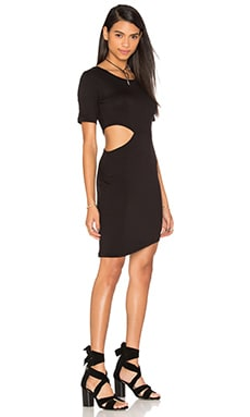 Cut Out Side T-Shirt Dress in Black