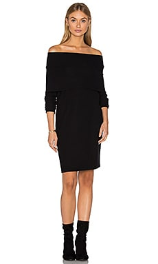 Brenda Scarf Dress in Black