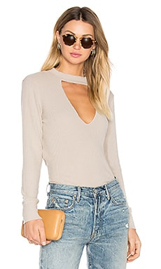 Bardot Long Sleeve Tee in Oat