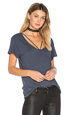 V Strappy Tee in Navy Ink