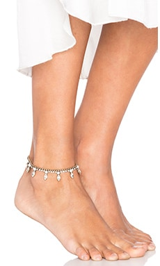 x SINCERELY Jules Malibu Anklet in Brass & Pearl