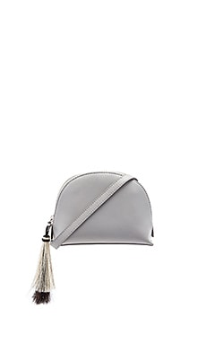 Cross Body Pouch in Dove Grey & Natural Black