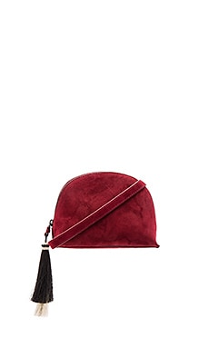 Crossbody Pouch in Port & Black Natural
