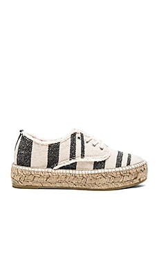 Espadrille Sneaker in Black & Natural