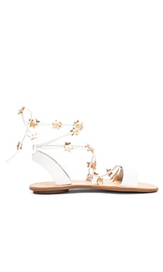 Starla Sandal in White & Gold