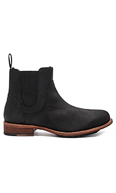 Evelyn Sheep Shearling Booties in Black