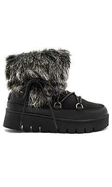 Casper Booties with Faux Fur in Black
