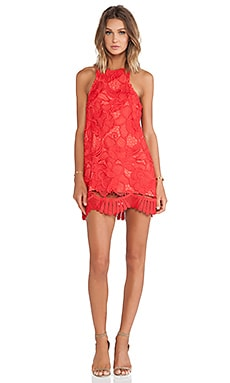 Caspian Shift Dress in Coral