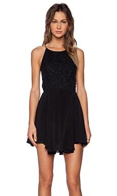 Jasmine Fit & Flare Dress in Black
