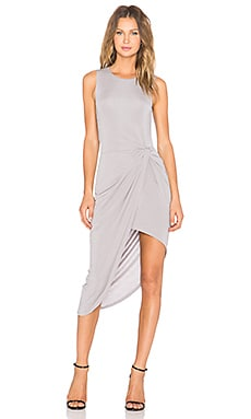x REVOLVE Jenna Wrap Dress in Heather Grey