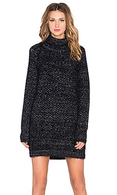 Night Sky Sweater Dress in Charcoal