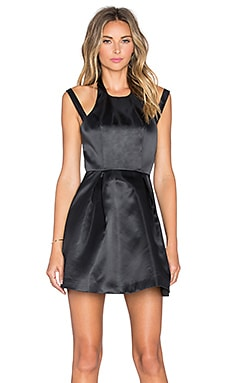 x REVOLVE Mega Fit & Flare Dress in Black