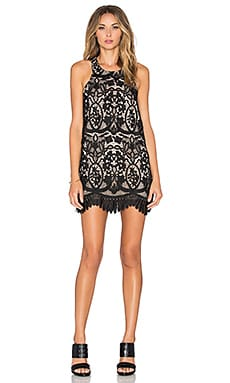 x REVOLVE Caspian Shift Dress in Black