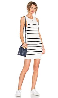 Shadow Play Dress in Black Stripe