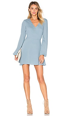 Shimmy Dress in Dusty Blue