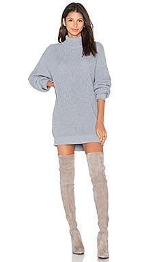 Christina Sweater Dress in Light Grey
