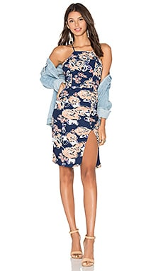 Raven Midi Dress in Carmel Floral