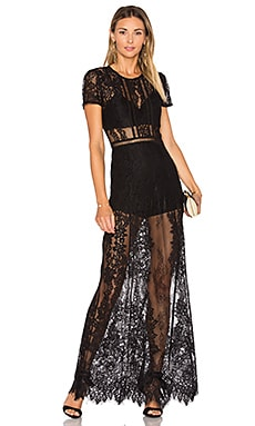 Romantic Night Dress in Black