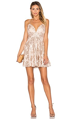 Girls Night Out Dress in Gold
