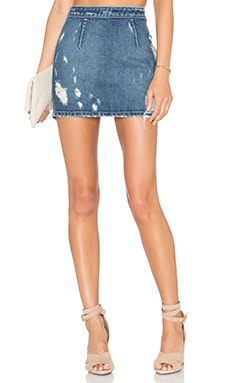Ryder Mini Denim Skirt in Las Palmas