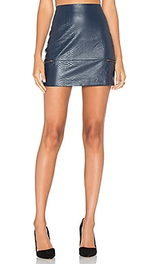 Good To Be Bad Mini Skirt in Navy