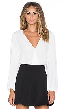 x REVOLVE Vision Long Sleeve Bodysuit in White