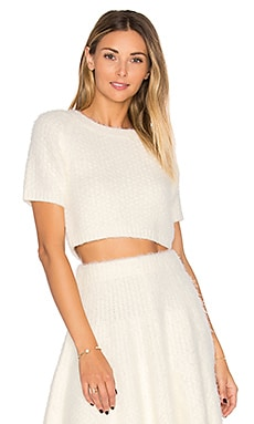Be Flirty Crop Top in Ivory