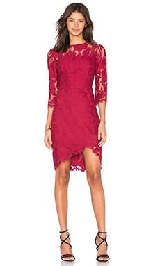 Arizona Asymmetric Dress in Cherry