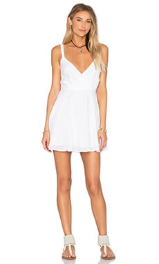 x REVOLVE Drop Front Dress in White