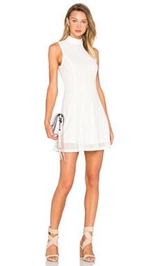 Mock Neck Tank Dress in White