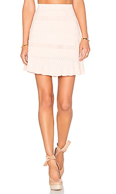 Trip Knit Skirt in Blush