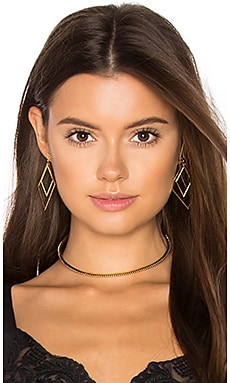 Studded Marquise Choker in Antique Gold