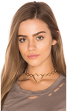 The Heart Choker in Antique Gold