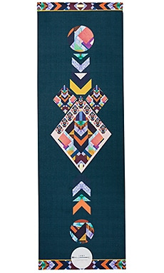 Tribal Yoga Mat in Black Multi