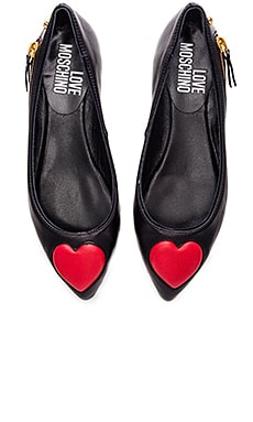 Heart Flat in Black